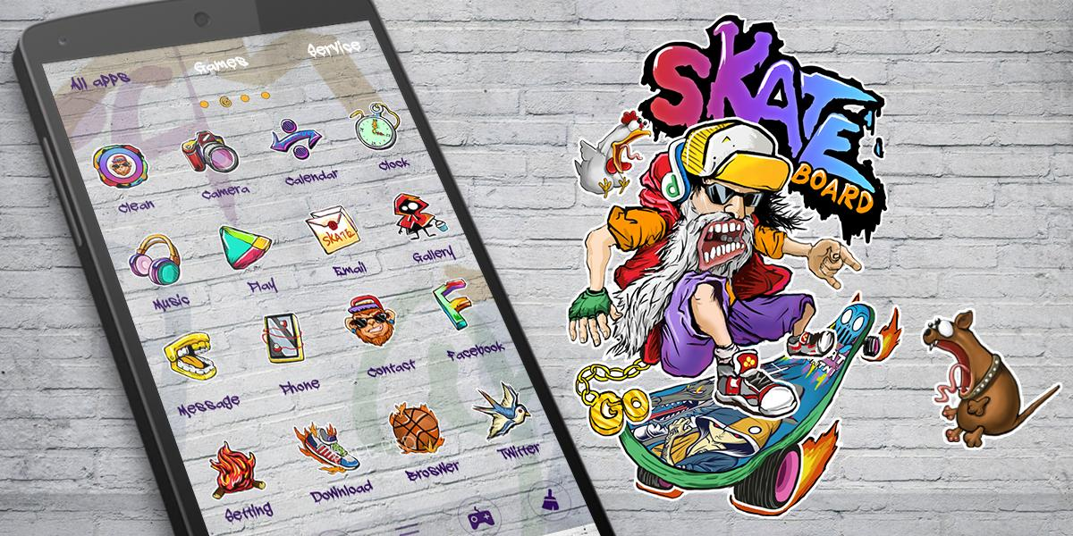 Skate GO Launcher Theme- screenshot