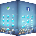 AppLock theme snow sky screen icon