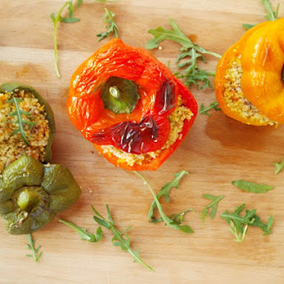 Peppers Stuffed With Couscous.