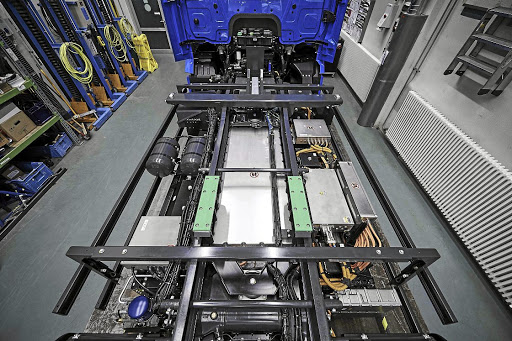 Batteries are stored in the centre of the chassis for increased safety and best weight distribution. Picture: DAIMLER