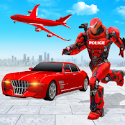 Flying Police Car Robot Hero: Robot Games