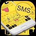 SMS Yellow Cartoon Keyboard Theme icon