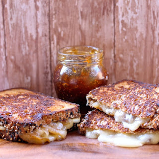 Smoked Havarti, Caramelized Onions & Fig Jam Grilled Cheese.