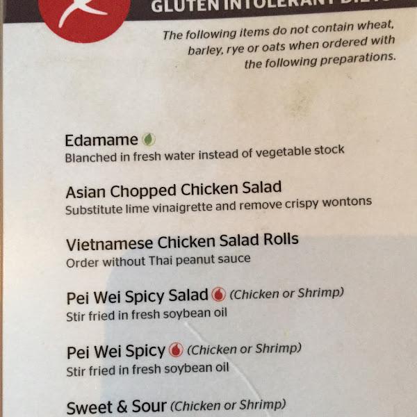 GF menu as of 08/07/15
