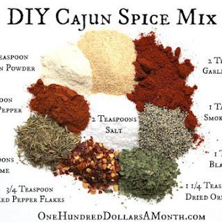 DIY Cajun Spice Mix.