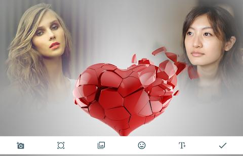 Broken Heart Photo Frames - náhled