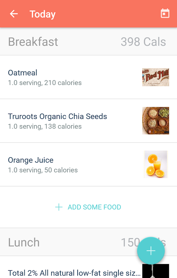 MyPlate Calorie Tracker- screenshot