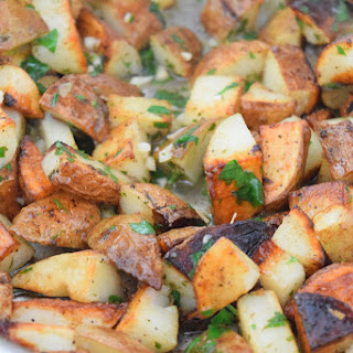 Roasted Garlic Lemon Potatoes.