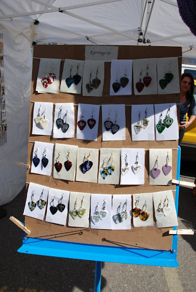 Photo: Margie Wong - Center Stage Designs - Jewelry Handmade from Guitar Picks and Crotcheted Items