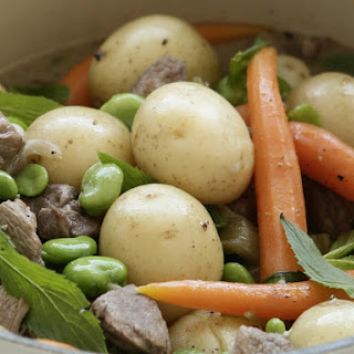 Lamb with Baby Vegetables.