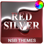 Red Silver Theme for Xperia icon