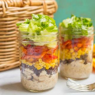 Southwestern Mason Jar Salad.