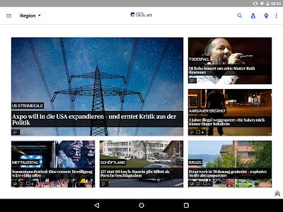 az Badener Tagblatt News screenshot 6