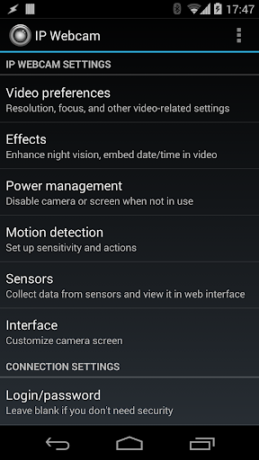 IP Webcam screenshot 1