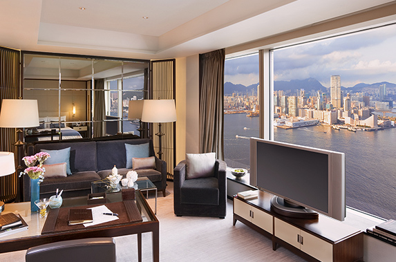 Comfy living room at Splendid residences in CBD, Hong Kong