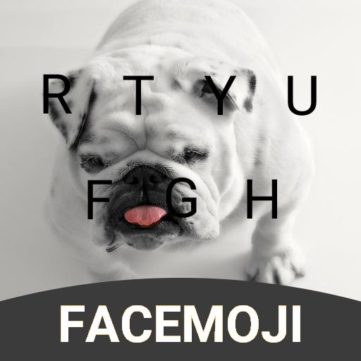 Cute Bulldog Keyboard Theme for Facebook
