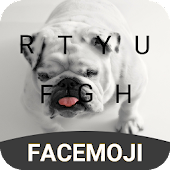 English Bulldog Emoji Keyboard Theme For Snapchat