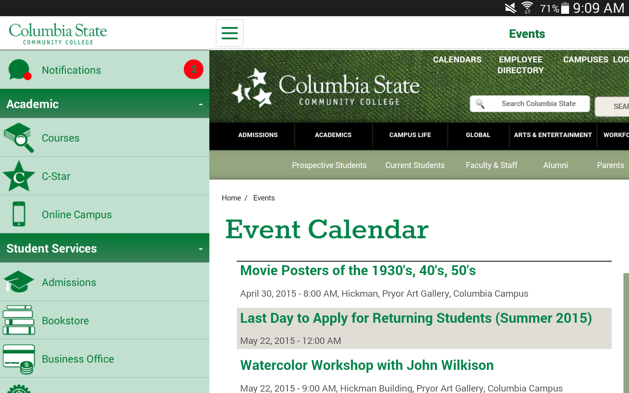 Columbia State- screenshot