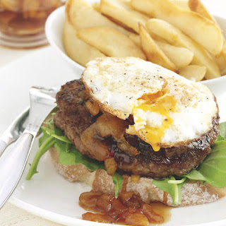 Lamb Burger with Apricot Chutney.