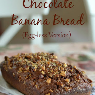 Chocolate Banana Bread | Eggless Chocolate Banana Bread Recipe