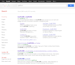 Photo: Google Search categories down the left, results when not signed in