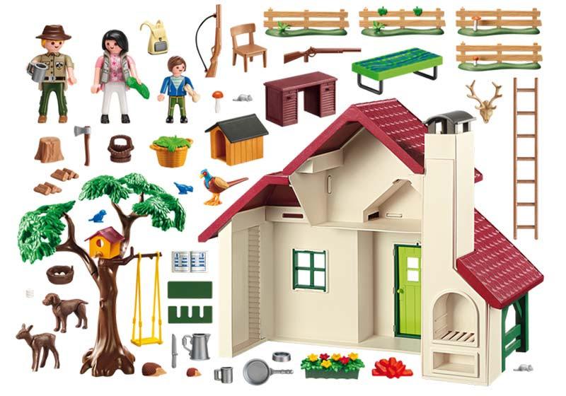 Contenido real de Playmobil® 6811 Casa del Bosque