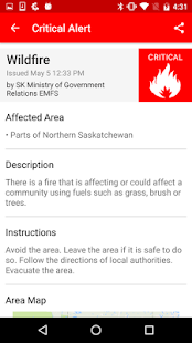 Saskatchewan Emergency Alert- screenshot thumbnail