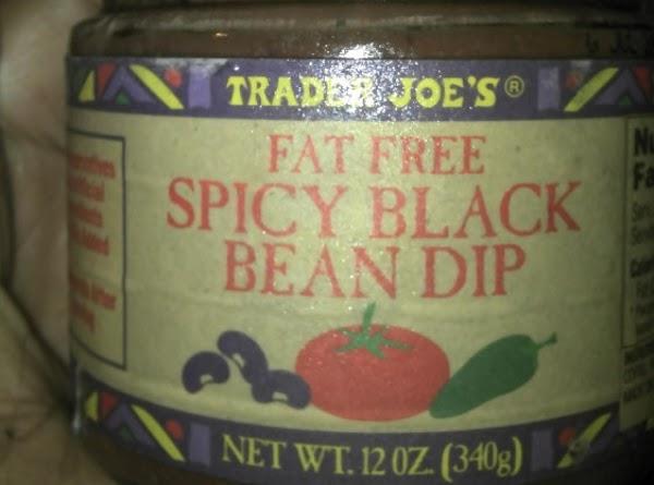 TJ's FAT FREE Black Bean Dip...the yummy star of this dish