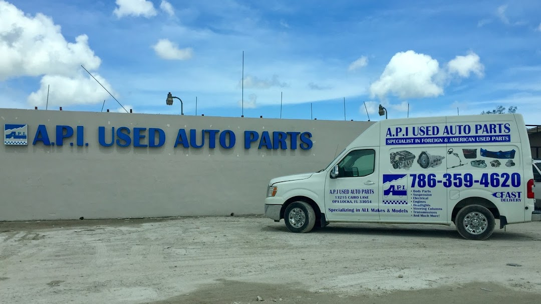A P I USED AUTO PARTS - YOU CAN ALSO VISIT AND CALL OUR