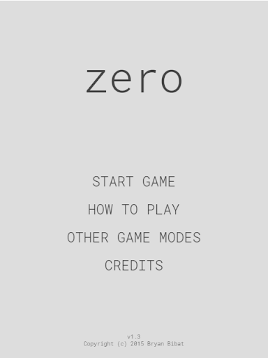 zero - a math puzzle game