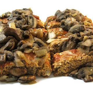 Skinny Turkey Meatloaf with Mushroom Sauce.