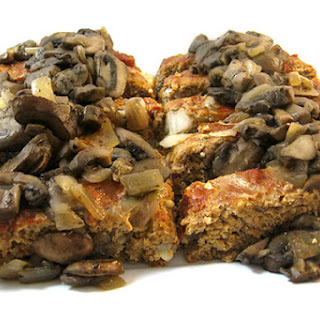Skinny Turkey Meatloaf with Mushroom Sauce.
