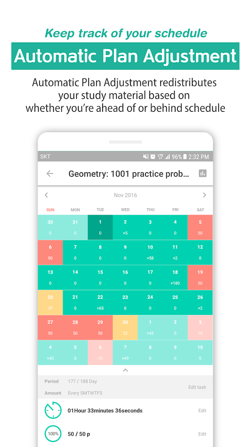Todait - Smart study planner: captura de tela