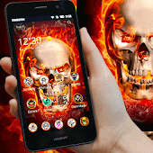Hell fire Skull free theme