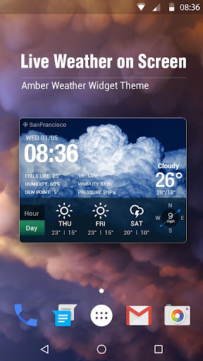 free live weather on screen for PC