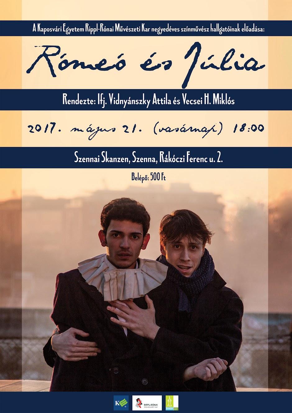 Rómeó és Júlia előadás a Szennai Skanzenben