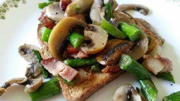 Think Spring  (asparagus  And Mushroom Stir Fry) Recipe