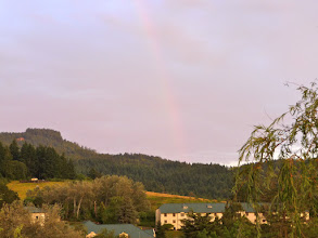 Photo: rainbow over laurelwood