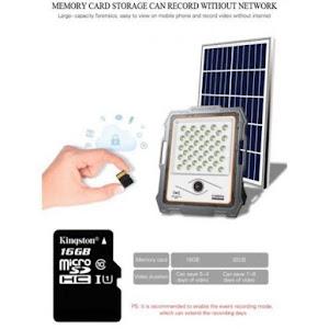 Proiector 200 W cu panou solar si camera de supraveghere