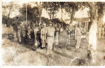 Photo: Latihan Hansip (Pertahanan Sipil) di Sungguminasa, Gowa.