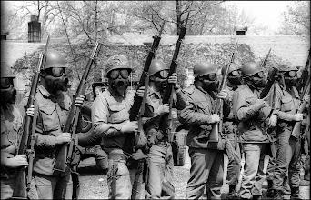 Photo: Troop G guardsmen, most May 4 shooters were in Troop G, pre-noon.