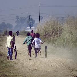 by Kumar Munna - City,  Street & Park  Street Scenes ( play, childhood, stree, playing, street photography )