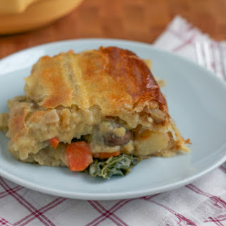Seasonal Vegetarian Pot Pie.