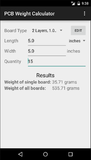 PCB Weight Calculator