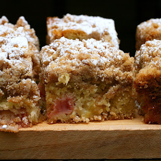 'Big Crumb' Coffeecake with Rhubarb.