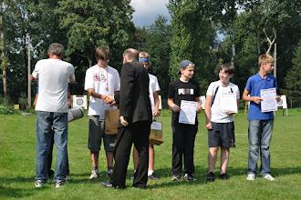 """Photo: Laureaci w kategorii wiekowej """"młodzik młodszy"""". Mistrzostwa Małopolski Dzieci i Młodzików 2011 (Dobczyce, 16.08.2011)"""