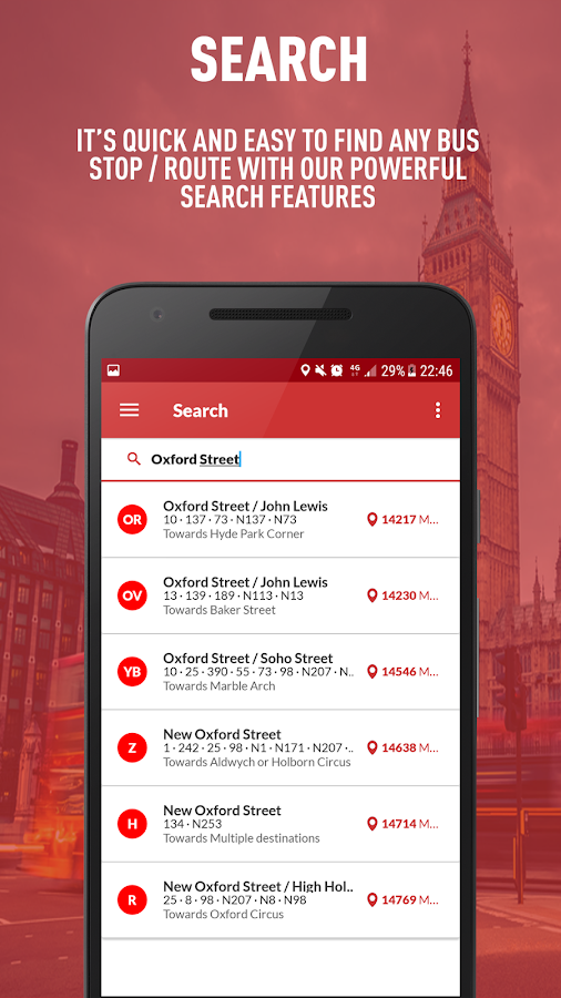 London Live Bus Times - TfL Buses- screenshot