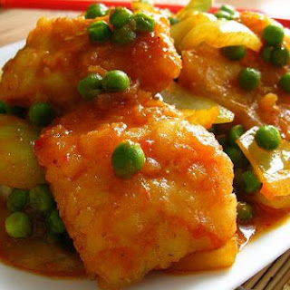 Curry Fish With Peas.
