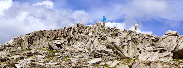 Photo: Me and Gerry - The summit is made of granite that exhibits an interesting weathering pattern.