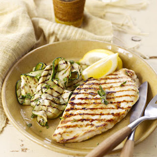 Lemon-Oregano Chicken Cutlets with Mint Zucchini.